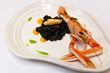 Chef Roger's Sea Cucumber and Norwegian Lobster, served with Squid Ink Bomba Rice and Butternut Squash
