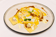 Veal Ossobuco Ravioli, Marrow Sauce, Saffron and Castelmagno Cheese by Chef Ferrarese