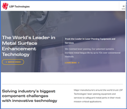 Home Page image of LSP Technologies website