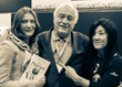 Authors Imazio (left) and Scienza (center) with Stevie Kim (Vinitaly International) in 2018 during the presentation of La Stirpe del Vino, now finally available in English.