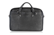 Executive Leather Laptop Briefcase—full-grain American Bison Leather; no two hides alike