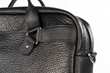 Executive Leather Laptop Briefcase — modern hardware detail