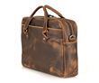 Executive Leather Laptop Briefcase — chocolate full-grain cowhide