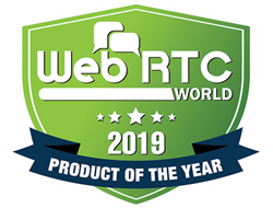 2019 WebRTC Product of the Year Logo