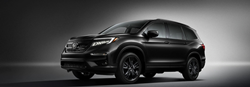 2020 Honda Pilot Black Edition in front of a dark background