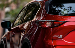 Closeup of badging on 2019 Mazda CX-5