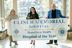 Clinch Memorial Hospital of Year Banner