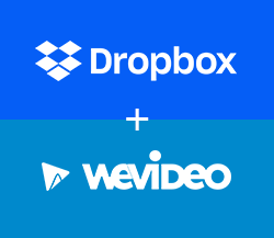 Dropbox WeVideo logo lockup
