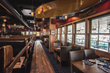Inside view of Duke's Seafood with its upscale fishing resort interior