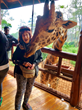 Everyone wanted children's book author Rozanne Weissman, 'Rozanne Travels to Africa to Kiss a Giraffe,' to kiss Eddie—but he was soooo BIG!