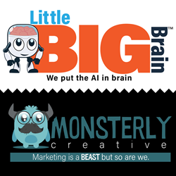 LittleBigBrain and Monsterly Creative Logos