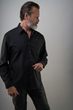 The black merino travel shirt, antibacterial