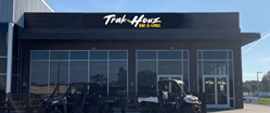 Exterior image of Trak-Houz Bar & Grill, Zeigler Motorsports'  all-new, in-house restaurant press release by Francis Mariela Communications