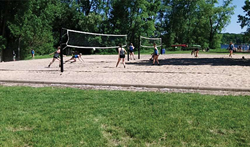 Sand Point Beach volleyball courts in Prior Lake, Minnesota
