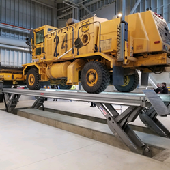 Large maintenance facilities increasingly turn to water-resistant vehicle lifting systems, such as the Stertil-Koni SKYLIFT Wash Bay, to clean their fleets