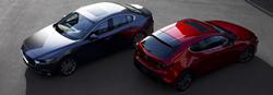 Two 2020 Mazda3 models side by side