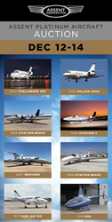 Assent Aeronautics to Auction Aircraft Catalog Valued at $28 Million and Counting December 12 - 14