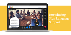 Sign Language Support in  KUDO