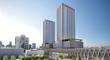 Colossal Miami development: The Parkline Towers at MiamiCentral integrates two residential towers, 30 and 33-floors tall, with 816 apartment units, the Central Fare food hall and a major transit hub.
