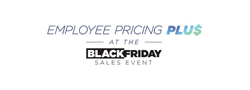 Palmen Black Friday Sales Event with Employee Pricing Plus banner