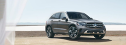 2020 MB GLC exterior front fascia passenger side on beach