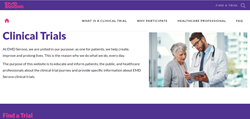 EMD Serono Clinical Trials website