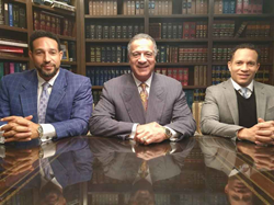 Left to right: J.D. Lewis, IV, Esq., J.D. Lewis, III, Esq., Christopher T. Lewis,  Esq. of the Lewis Law Group