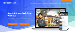 RealtyTech Home Page Image with Agent and Website Image