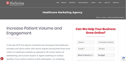 Screen Grab of GoMarketing Healthcare Medical Online Marketing Division Main Page