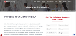 Image of GoMarketing Financial Marketing Division Main Page