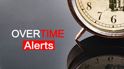 Receive overtime alerts to improve payroll accuracy.