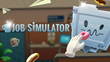 Job Simulator Logo with some Platinum text and a Platinum Job Bot