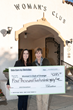 Skin Care by Christina owner Christina Martinez presents Woman's Club of Orange President Cheryl Krause with 2019 donation.