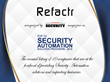 Refactr Certificate from Enterprise Security Magazine