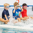 Big Blue Swim School provides swim lessons for families with children ages six months to 12 years old seeking water safety for their children.