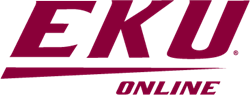 Logo with text. For the ninth consecutive year, EKU's online degree programs are ranked among the best by U.S. News and World Report.