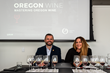 Chris Tanghe, MS, and Bree Stock, MW, leading an Oregon Wine Masterclass