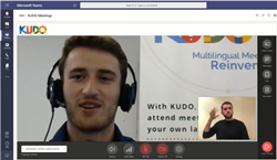 KUDO meeting seamlessly integrated into Microsoft Teams