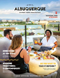 Cover of the 2020 Official Albuquerque Visitors Guide