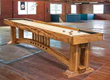 McClure Tables Handcrafted Shuffleboards Sold Direct & On Line Featured In National Hardwood Magazine