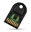The rugged design of the Datakey IAT CryptoAuthentication™ memory token features solid over-molded construction and redundant, high cycle-life gold contacts.