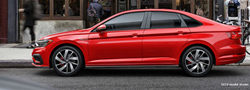 2019 VW Jetta GLI red exterior driver side parked