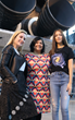 Svaha Founder Jaya Iyer, center, created the company when she couldn't find her daughter, who is space-obsessed, a single girl's astronaut shirt or any science or technology-themed clothes for girls.