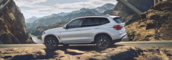 2020 BMW X3 on rocky terrain