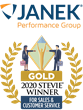 Janek Performance Group Wins Gold in 2020 Stevie Awards for Sales & Customer Service