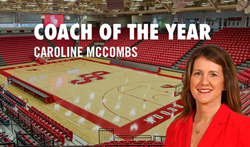 Nike Girls Basketball at Stony Brook University in New York is pleased to announce that Camp Director Caroline McCombs has been named coach of the year.