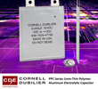 Cornell Dubilier Develops a 1 mm-Thin Polymer Aluminum Electrolytics that Provides High Ripple Current and Capacitance