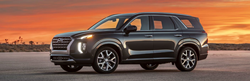 2020 Hyundai Palisade Exterior Driver Side Front Profile at Sunset