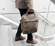 Hitch Crossbody Brief — A spacious vertical laptop and tablet crossbody bag in a streamlined form that functions as an everyday carry or briefcase