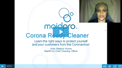 MaidPro Coronavirus Training Video